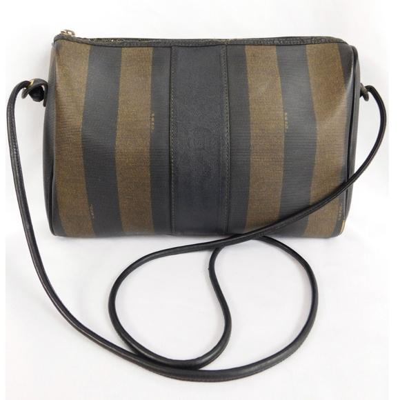 6a2cb05ac92 Fendi Bags   Pequin Striped Crossbody Vintage Handbag   Poshmark